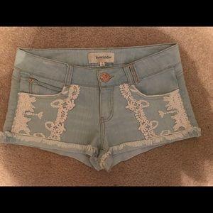 """""""Rewind"""" light denim shorts Size 7"""